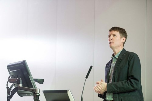 Photo of Professor Nick Bailey speaking at the event