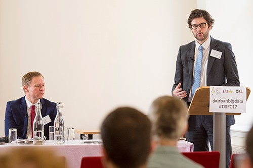 Tom Digby-Rogers (right) and Tim McGarr (left), from BSI, speaking at the event