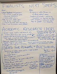 Photo of flip chart showing ideas from discussion at event