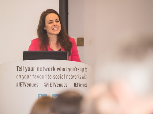 Photo of Kate Forbes MSP speaking at Urban Big Data Centre event